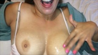 Cum on Shy Asian Tits after Fucking & Orgasm (Big College boobs bouncing!)